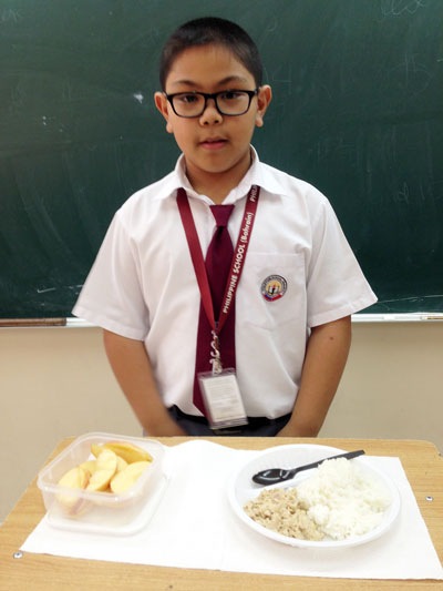 Nutrition Month Presentation of My Plate in the culminating activity for Pinggang Pinoy