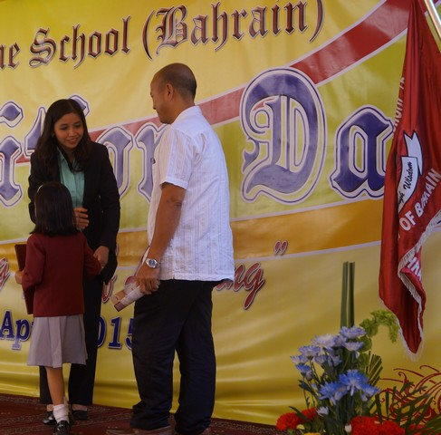 Teacher of the Month Elementary Mrs. Leda T. Baluyot during the Recognition Day Program