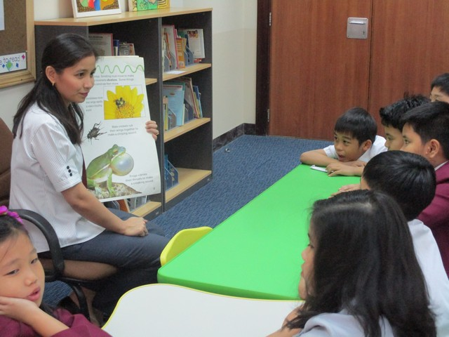 Teacher of the Month Elementary Mrs. leda T. Baluyot during the Story Telling time
