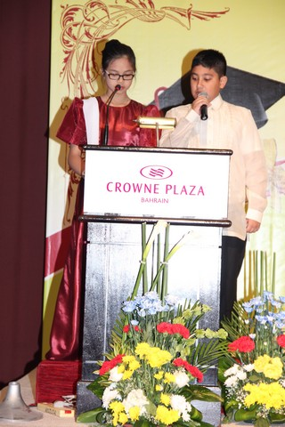 Yasser Mohammad Shah Student of the Month Elementary School as the Master of Ceremonies in theMoving Up Program 2015